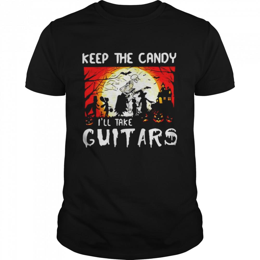 Keep the candy I'll take guitars cruella deville costume shirt