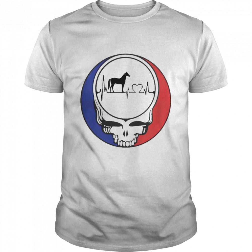 Grateful Dead heartbeat horse shirt