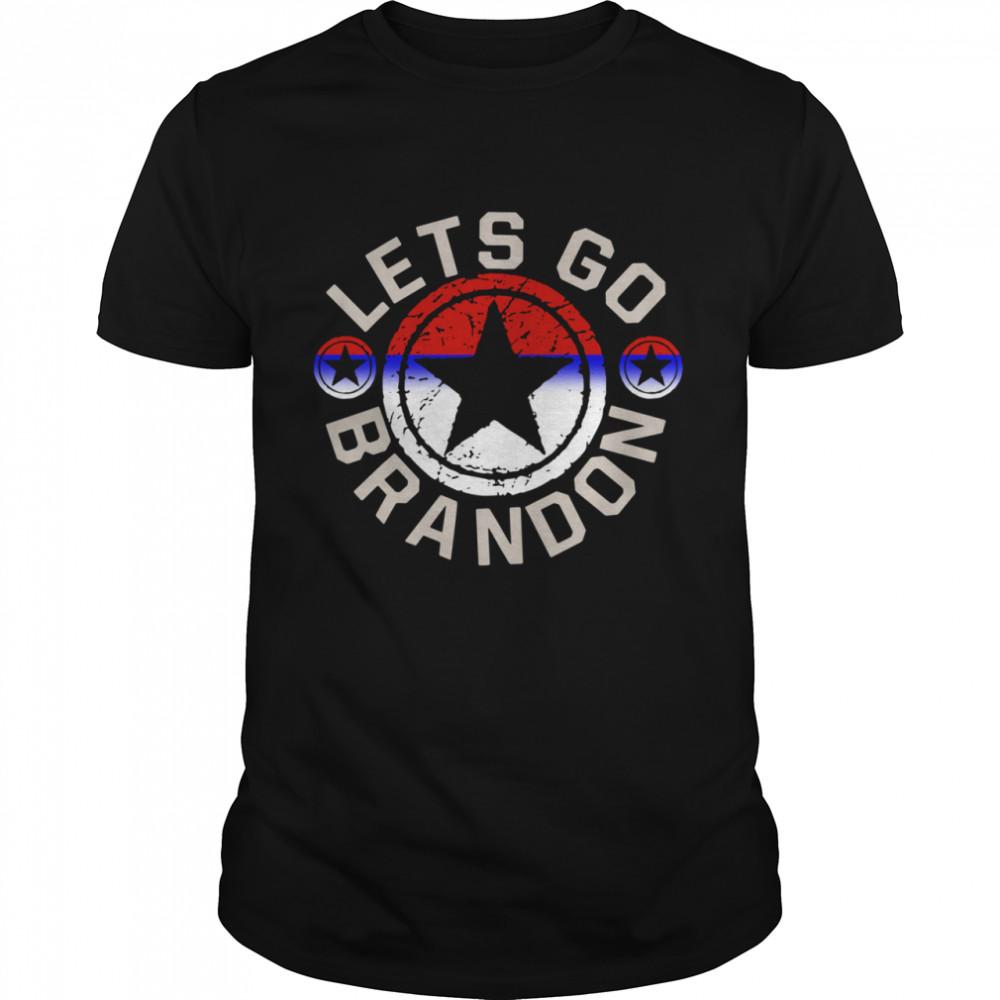 Anti Joe Biden Let's Go Brandon Conservative Anti Liberal Us Flag Shirt