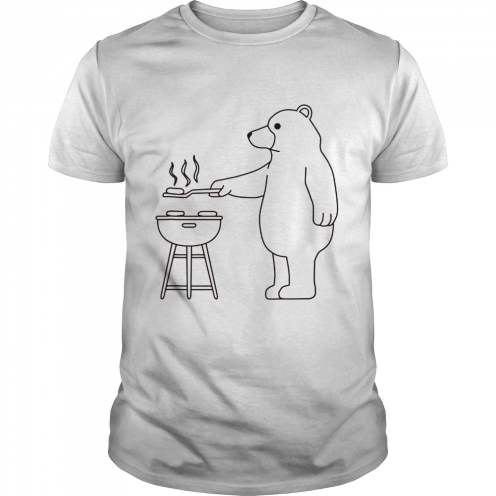 Ironic Grizzly Camping und Grillen Grill Shirt