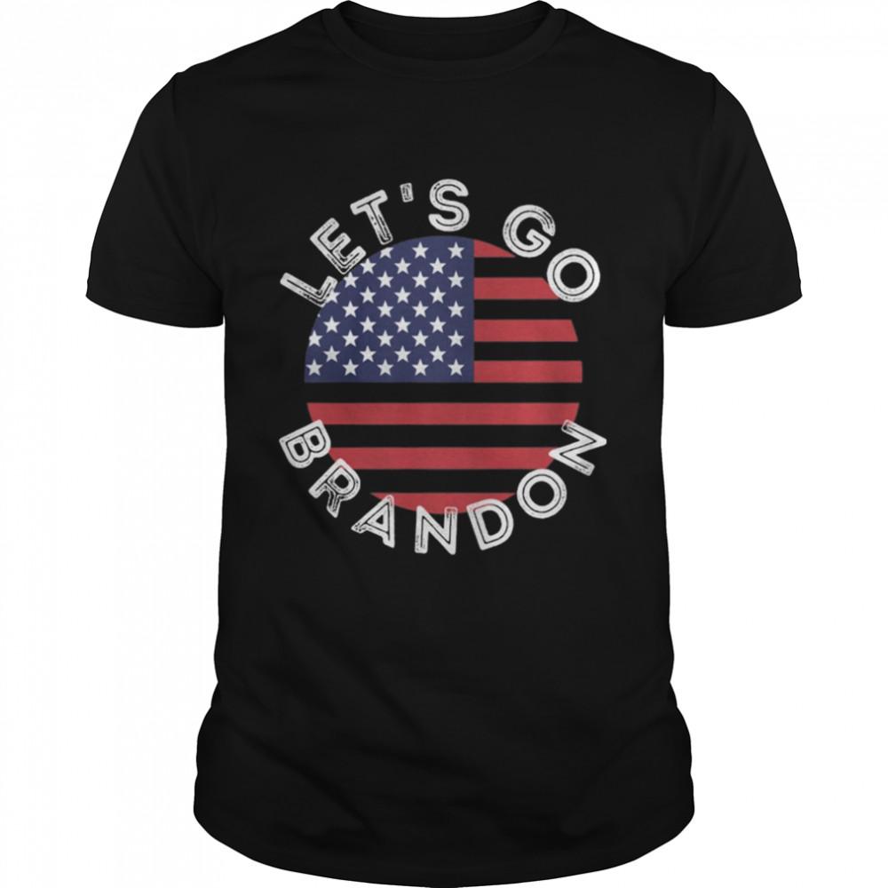 Top Let's Go Brandon Liberal impeach Star Flag Shirt