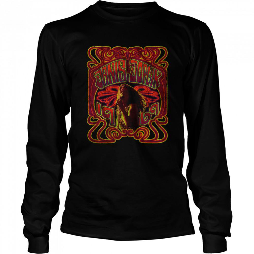 1969 Janis Joplin T- Long Sleeved T-shirt