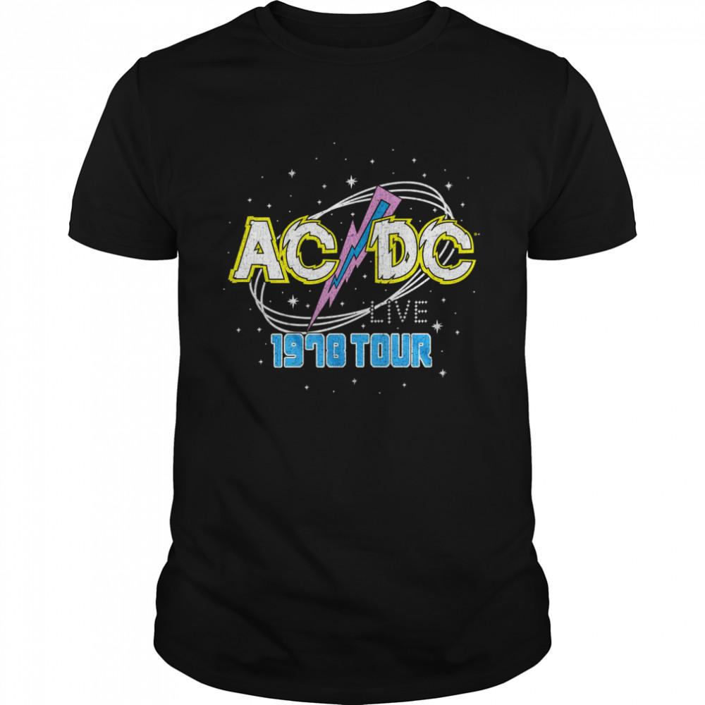 ACDC Intergalactic Live Tour 1978  shirt
