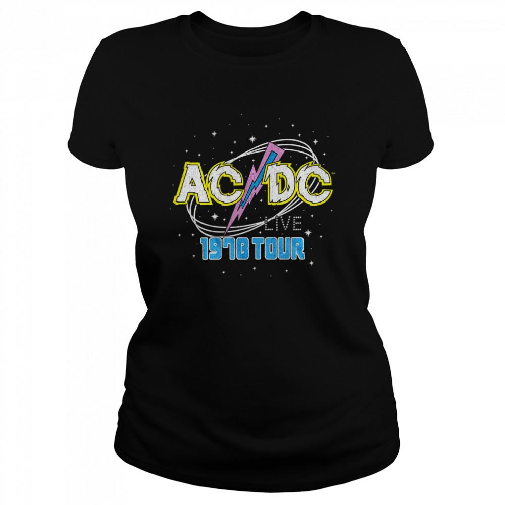 ACDC Intergalactic Live Tour 1978  shirt Classic Women's T-shirt