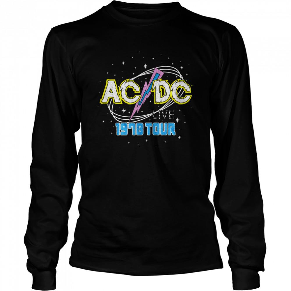 ACDC Intergalactic Live Tour 1978  shirt Long Sleeved T-shirt
