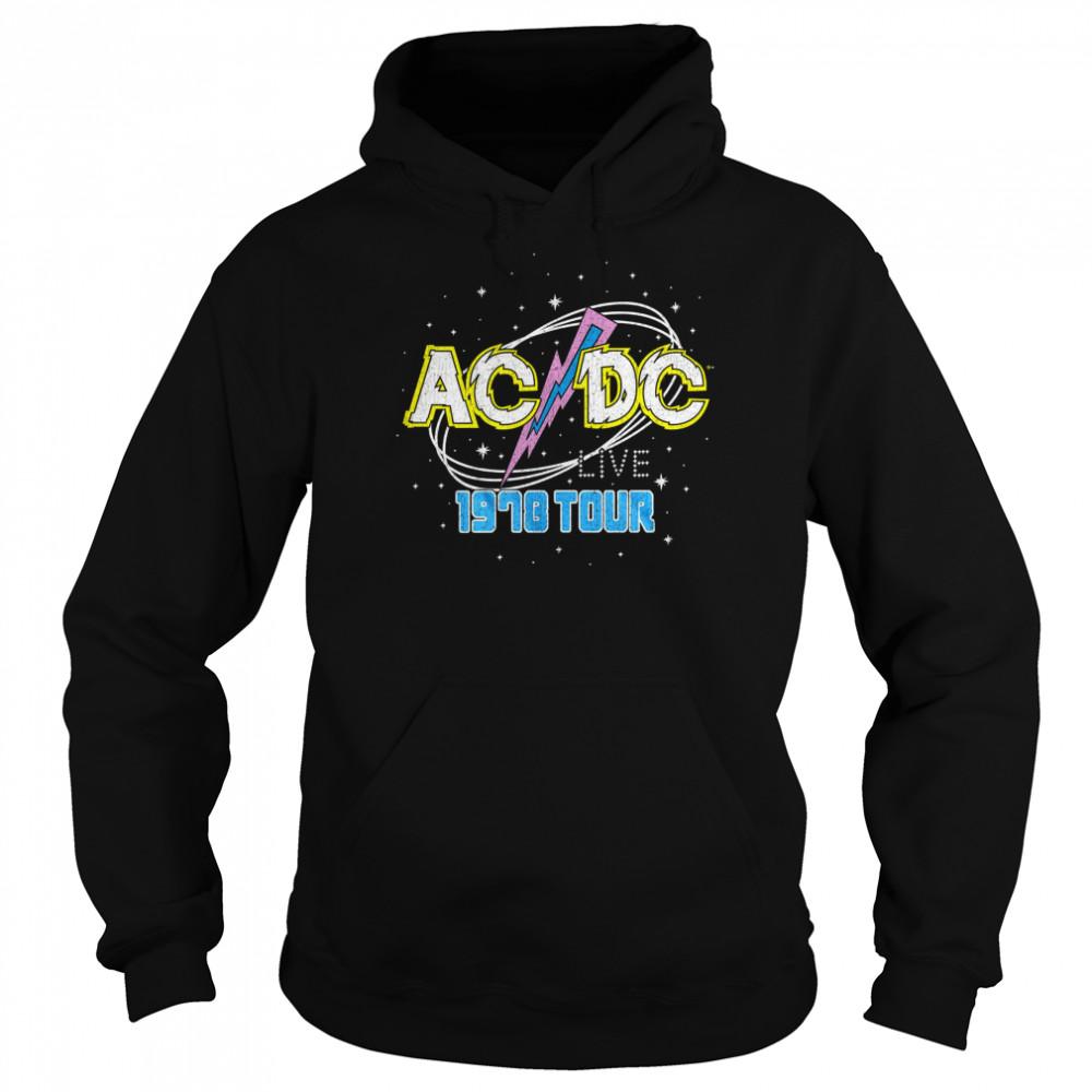 ACDC Intergalactic Live Tour 1978  shirt Unisex Hoodie