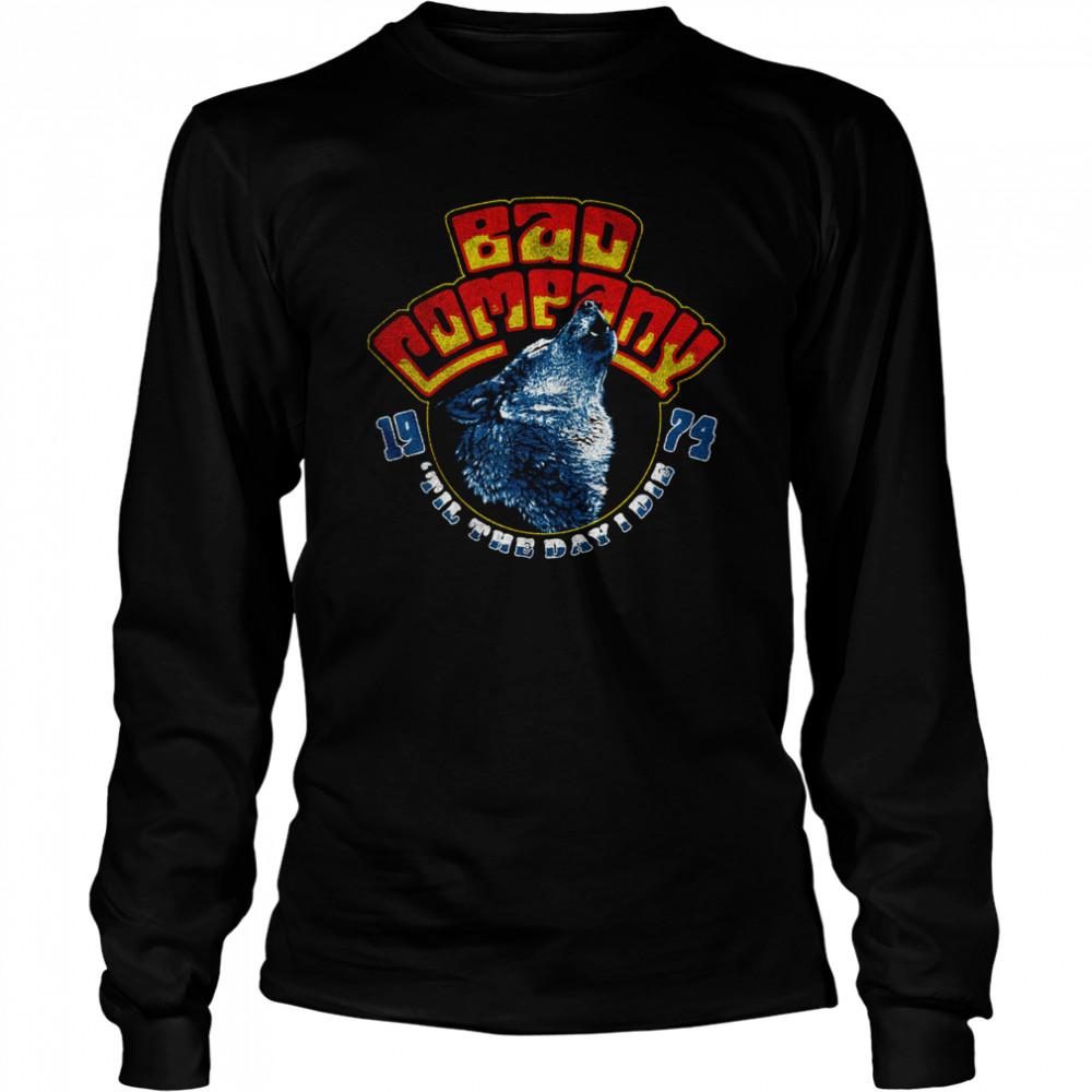 Bad Company Wolf Head 74 shirt Long Sleeved T-shirt