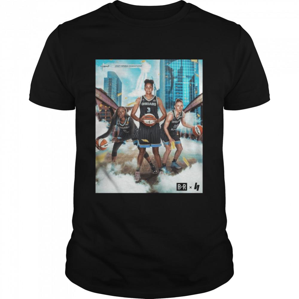 2021 WNBA Champions Chicago Sky Basketball Shirt